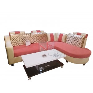 Lovely Corner Sofa Set with Center Table