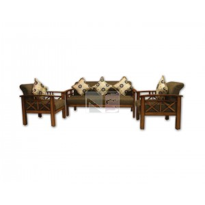 Solid Teak Wood 5 Seater Sofa Set