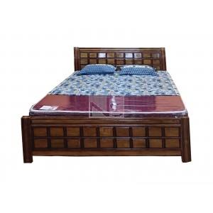 Chocolate Wood Box Bed