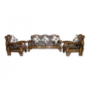 Solid Teak Wood 5 Seater Sofa Set